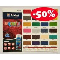Aikka WRINKLE PAINT COLOUR CARD