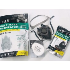 1+1 Half Mask Respirator 6600 Rubber Facepiece Aikka The Paints Master  - More Colors, More Choices