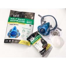 1+1 Half Mask Respirator 7700 Silicone Facepiece