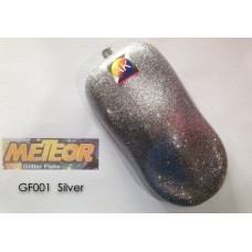 Meteor Glitter Flake  GF001 Silver 250ml Aikka The Paints Master  - More Colors, More Choices