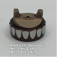 Aikka 27i Spray Gun Spareparts - No.5/7 Lock Ring