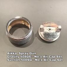 Aikka 508GE Gravity Spray Gun Spareparts - No.1 Air Cap Set Aikka The Paints Master  - More Colors, More Choices