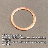 Aikka 508GE Gravity Spray Gun Spareparts - No.3 Needle Packing Gasket