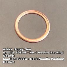 Aikka 508GE Gravity Spray Gun Spareparts - No.3 Needle Packing Gasket Aikka The Paints Master  - More Colors, More Choices