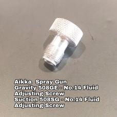 Aikka 508GE Gravity Spray Gun Spareparts - No.14 Fluid Adjusting Screw Aikka The Paints Master  - More Colors, More Choices