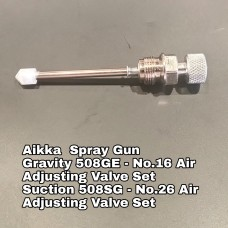 Aikka 508GE Gravity Spray Gun Spareparts - No.16 Air Adjusting Valve Set Aikka The Paints Master  - More Colors, More Choices