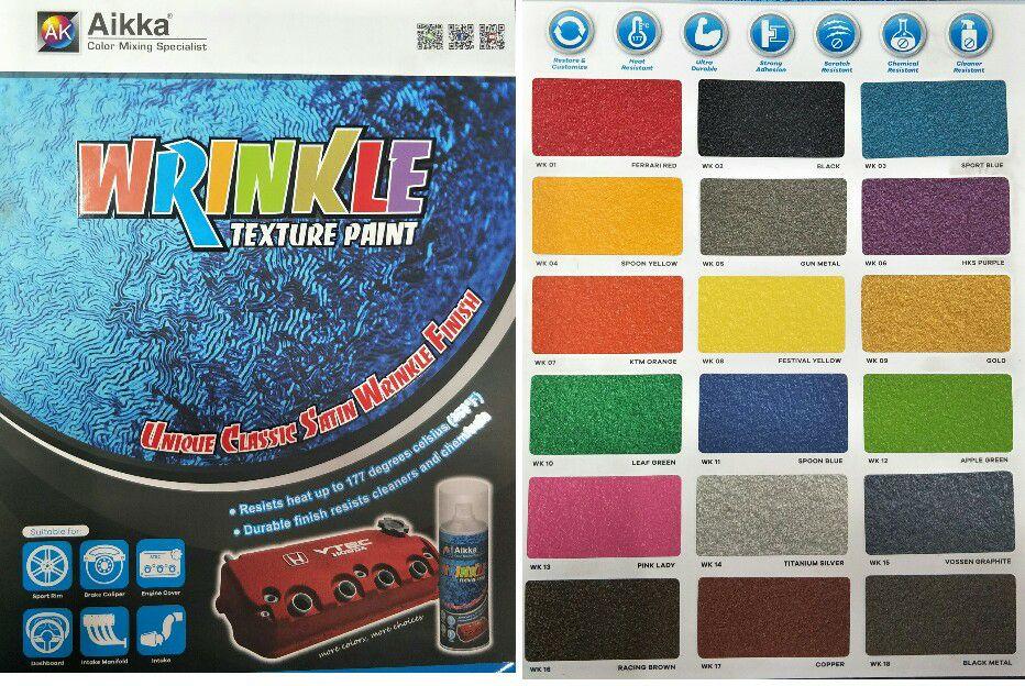 Wrinkle texture paint