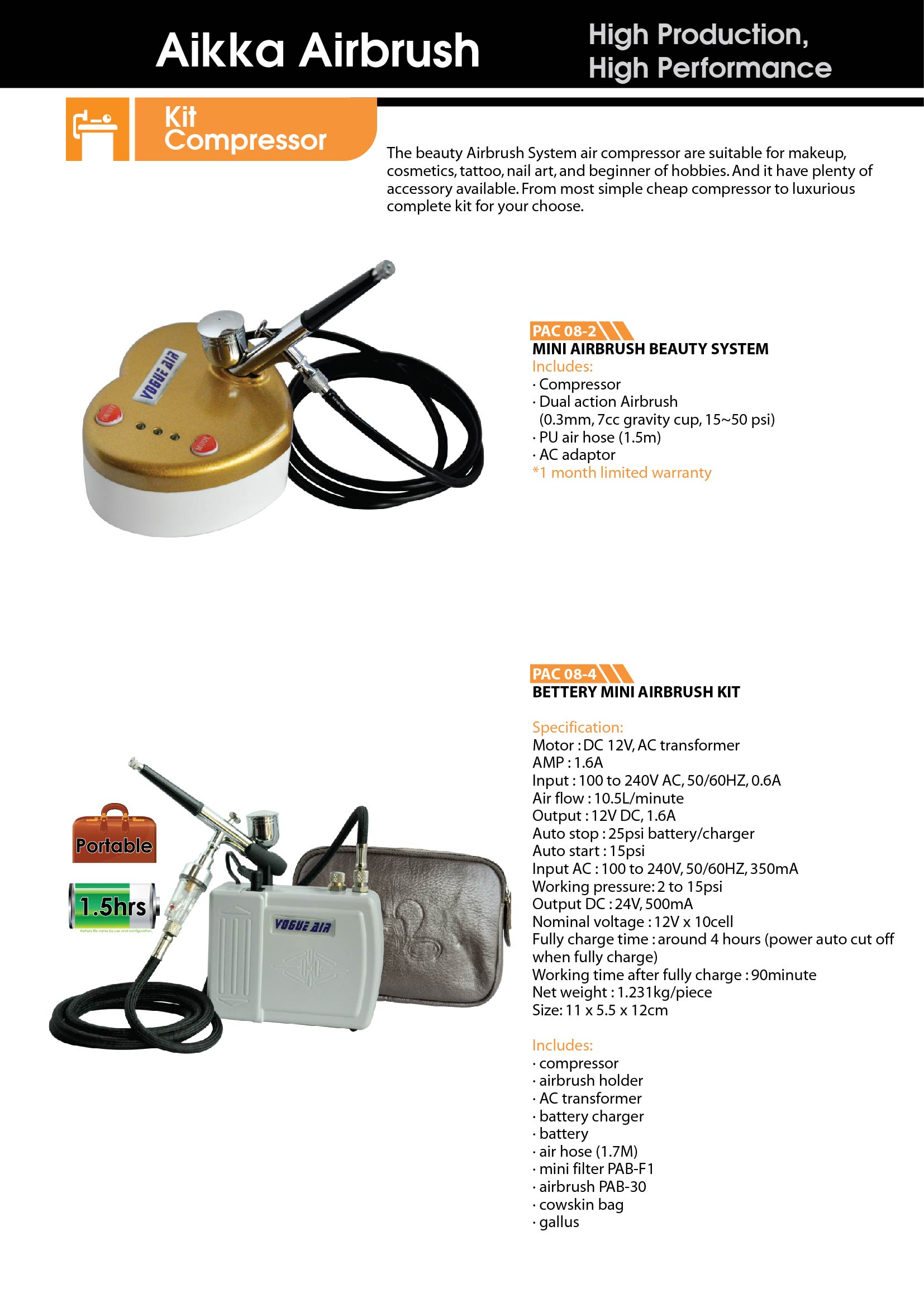 pac-61 airbrush kit
