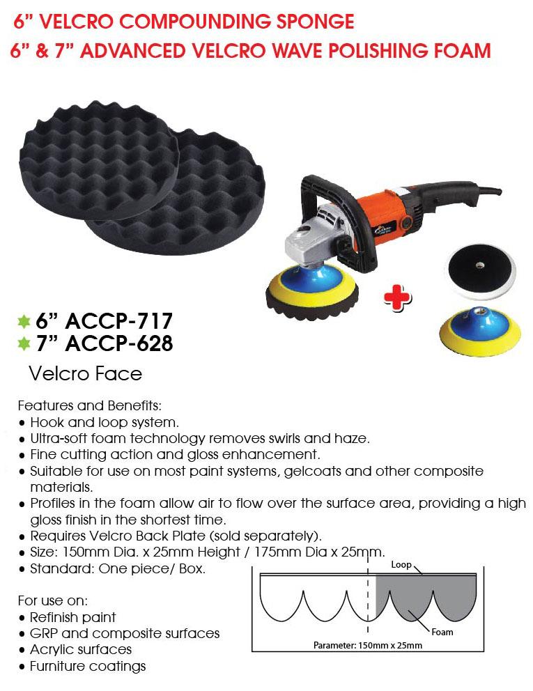 ACCP 628 Velcro wave finishing sponge