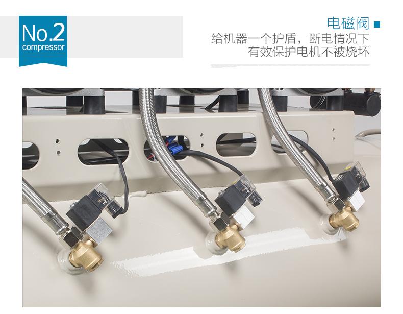 JUBA Mute Oil-free Air compressor 1200w x 3 160L  (4.8HP)